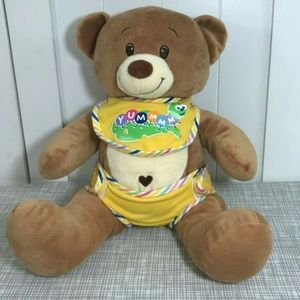 Build A Bear Tan Baby Bear w/ Heart Belly Button